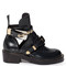 Ceinture cut-out leather ankle boots