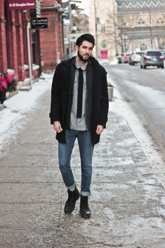 bobby raffin blogger winter outfits mens coat menswear mens duffle coat