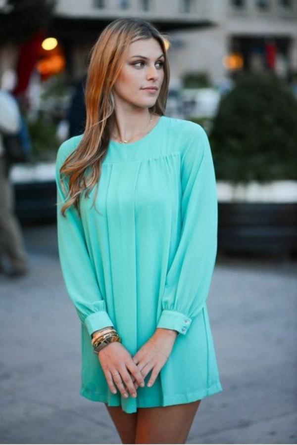 dress tunic ootd fashion blogger style blogger turquoise