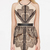 Nude Sleevless Contrast Black Lace Peplum Dress - Sheinside.com