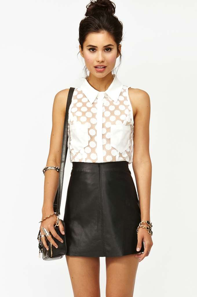 Dotted Crop Shirt | Shop Clothes at Nasty Gal