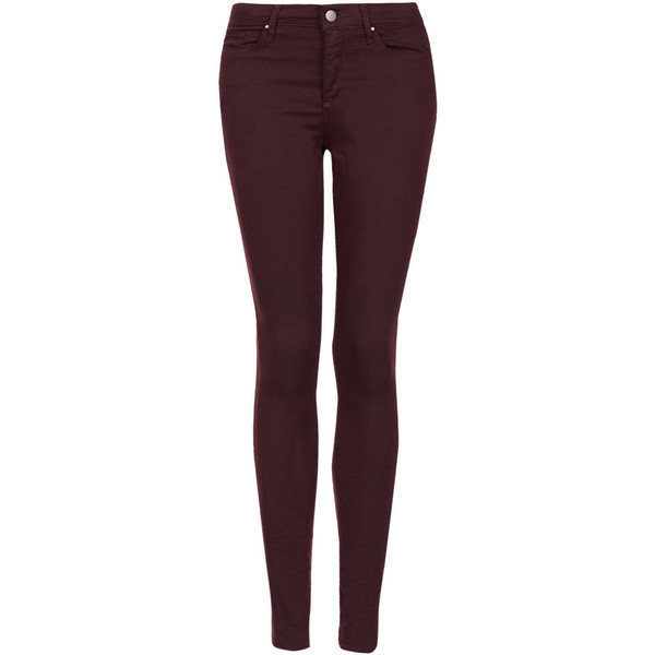 TOPSHOP MOTO Aubergine Leigh Jeans - Polyvore