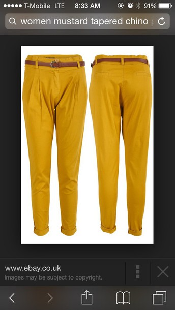 pants mustard color tapered chino  pants mustard chino pants