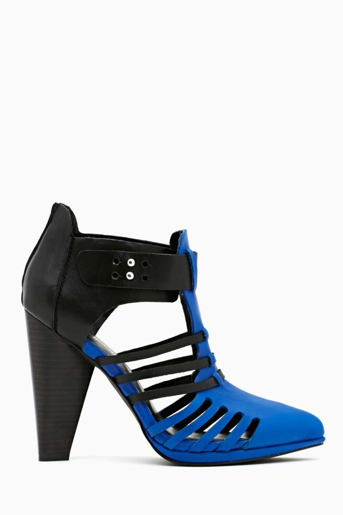 Shoe Cult Reaction Bootie - Blue in  Shoes at Nasty Gal