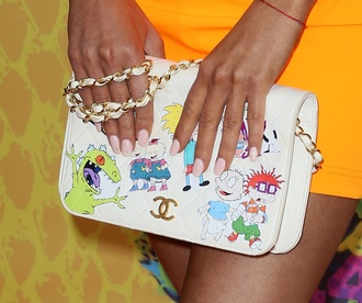 nail polish ariana grande bag rugrats cartoon chanel chanel bag