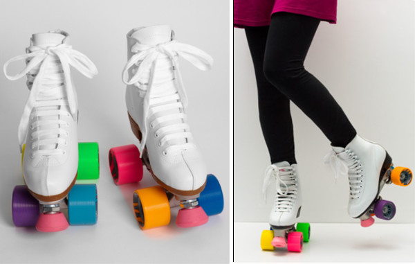 shoes roller skates roller skates neon tights