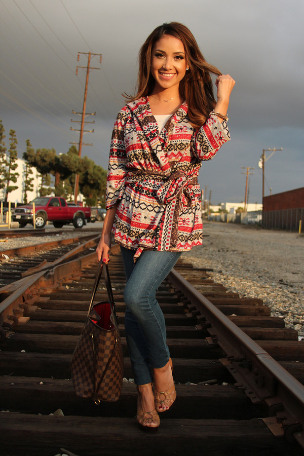 dulce candy sweater jeans shoes