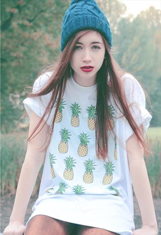 Pineapple Tee Pastel Blue - As seen on Annie Mac on Ch4  | Hantu Collective | ASOS Marketplace