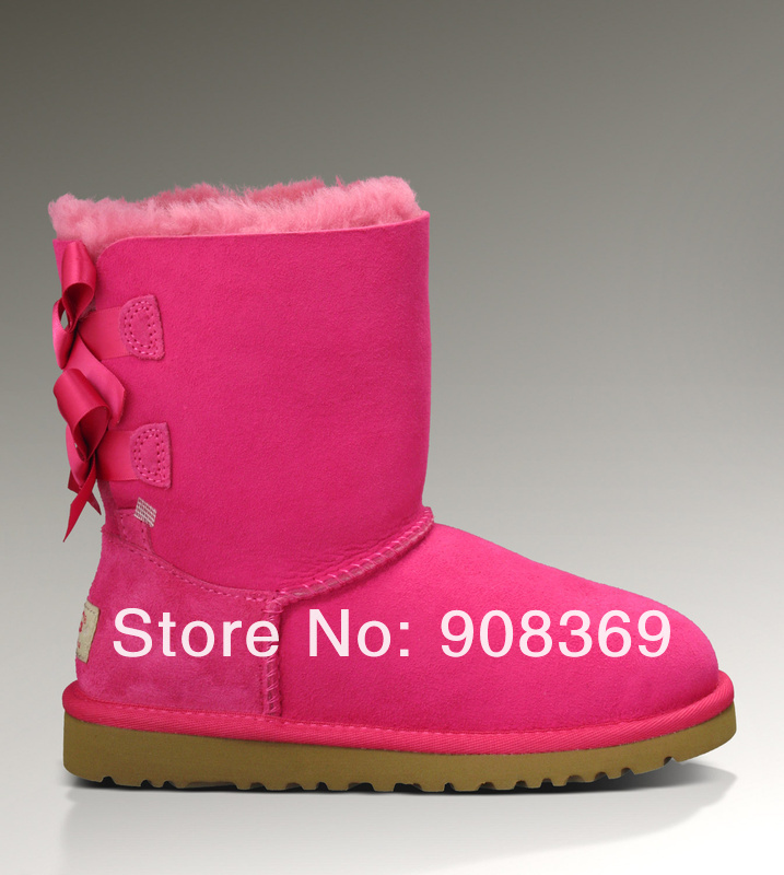int'l Brand Genuine Australia sheepskin 100% Wool inside 3280 Bailey Bow warm women winter mid calf snow boot,original Lable box-in Boots from Shoes on Aliexpress.com