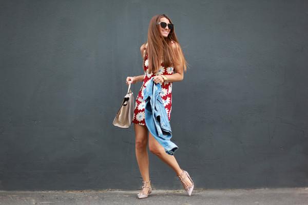 b a r t a b a c jacket shoes bag jewels sunglasses dress