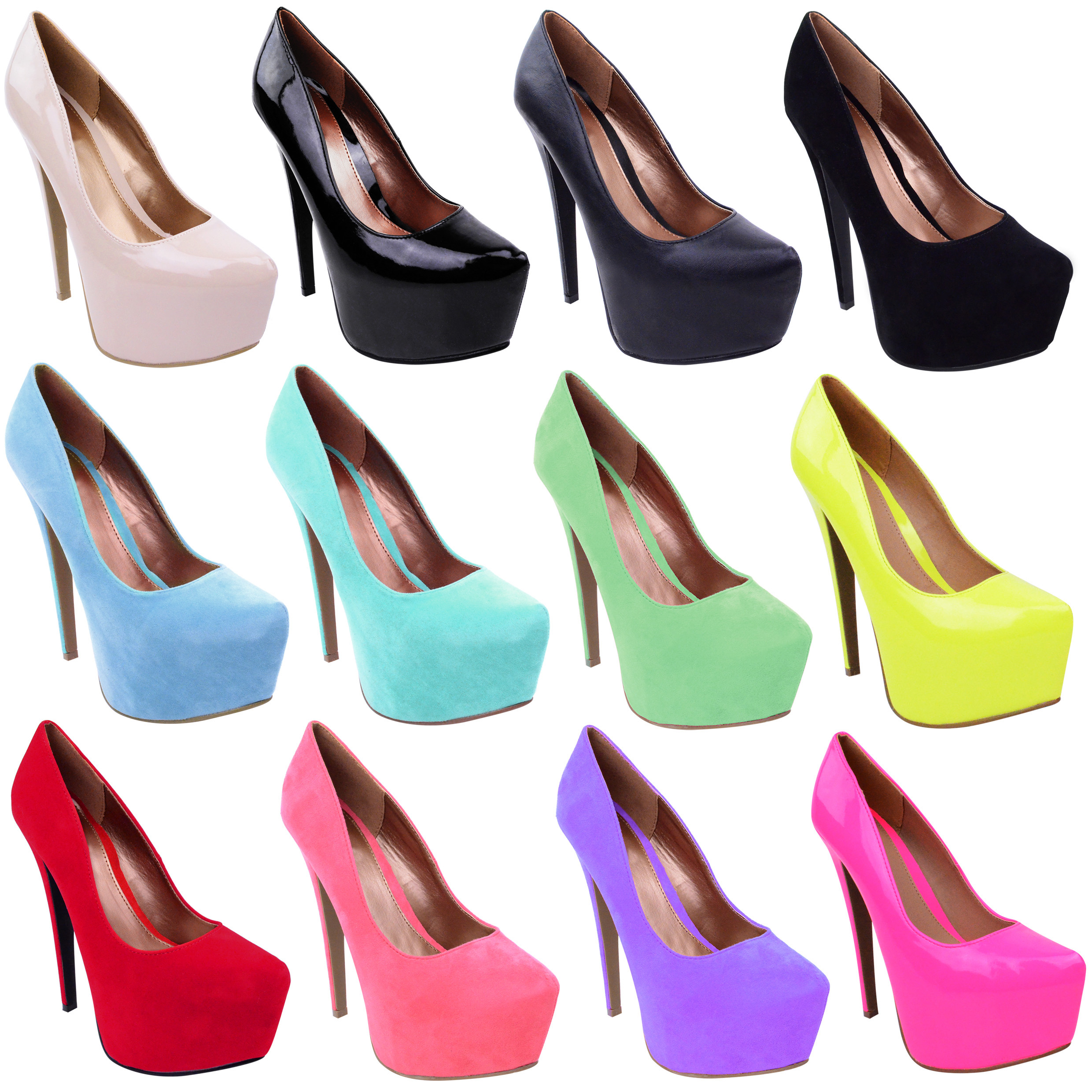 womens high heels platform pointed classic