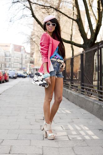 macademian girl jacket t-shirt shorts shoes bag