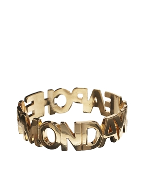 Cheap Monday | Cheap Monday Letter Bracelet at ASOS