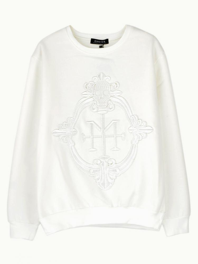 Sweatshirt With Embroidered M Pattern | Choies