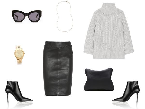 harper & harley skirt sweater shoes sunglasses bag jewels