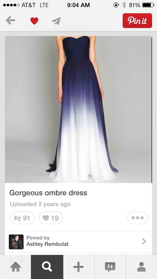 dress monique lhullier prom dress long prom dress ombre