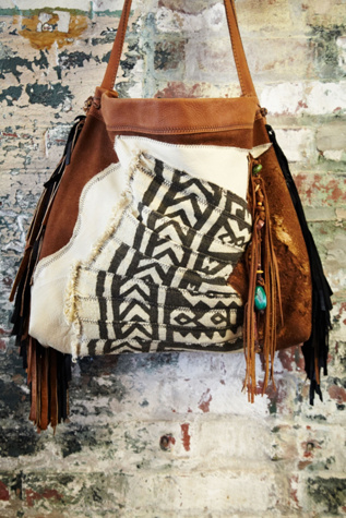 t smith knowles womens vintage african bogolanfani bag #481