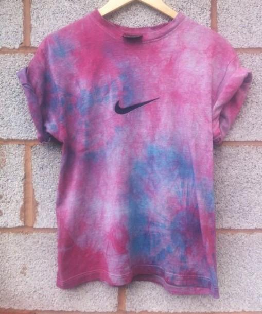 Brand-new shirt, nike, tie dye, pink, purple, tie dye shirt, t-shirt, ty dye  AL14