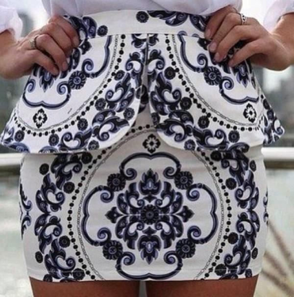 skirt cute peplum skirt
