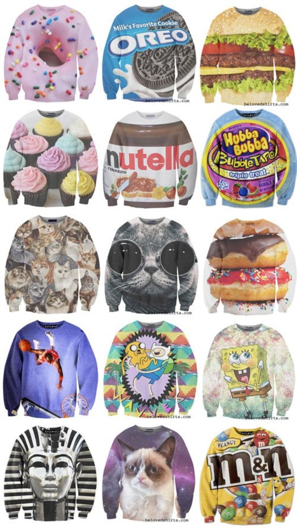 jacket jumper graphic sweater sweatshirt graphic tee top sweater sweater lovely print colorful