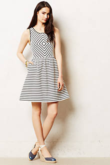 Mitred Stripe Dress - anthropologie.com
