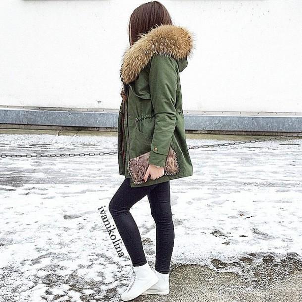 coat fashion streetwear style green jacket