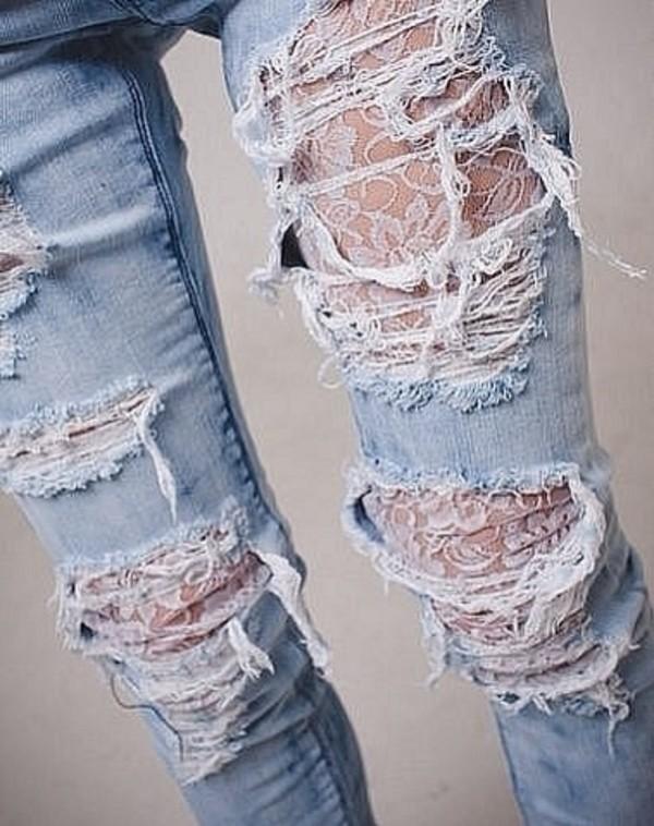 jeans lace