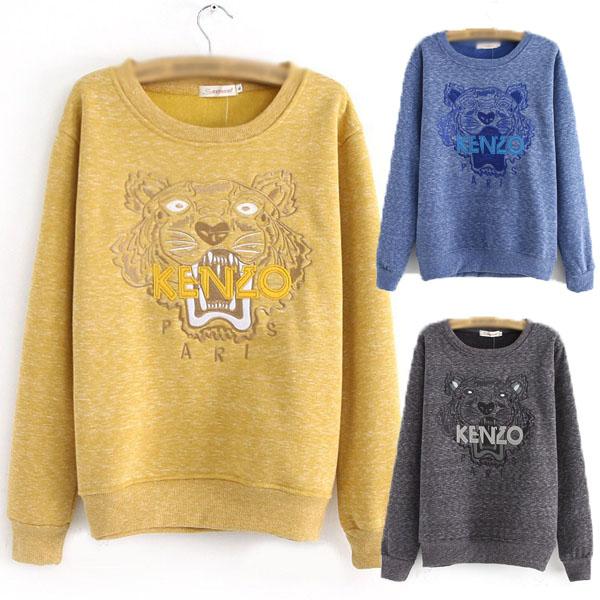 Fashion Celebrity Style Animal Tiger Applique Cotton Jumper Sweatshirt Sweater | eBay