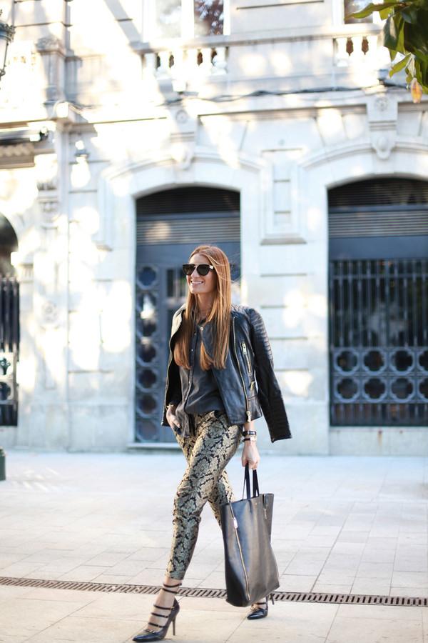 b a r t a b a c jacket shirt pants bag sunglasses jewels