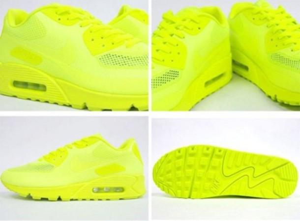 neon yellow air max 90