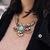 Floral Rhinestone Collar Necklace | Choies