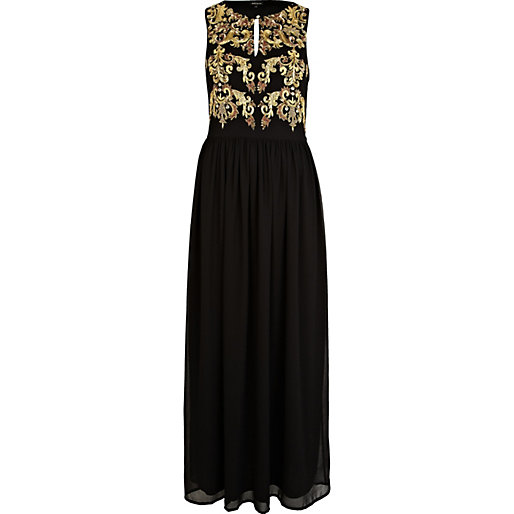 Black baroque print maxi dress - dresses - sale - women