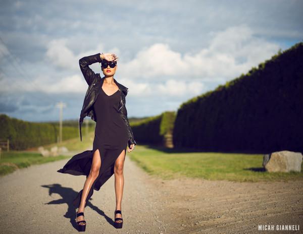 micah gianneli sunglasses dress jacket shoes