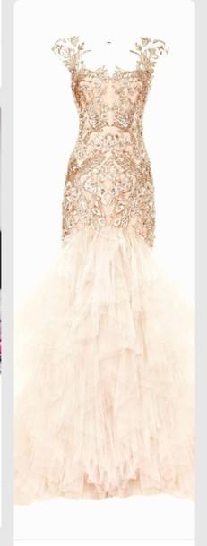 dress prom dress formal dress gold dress