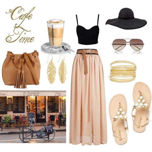 skirt shoes hat