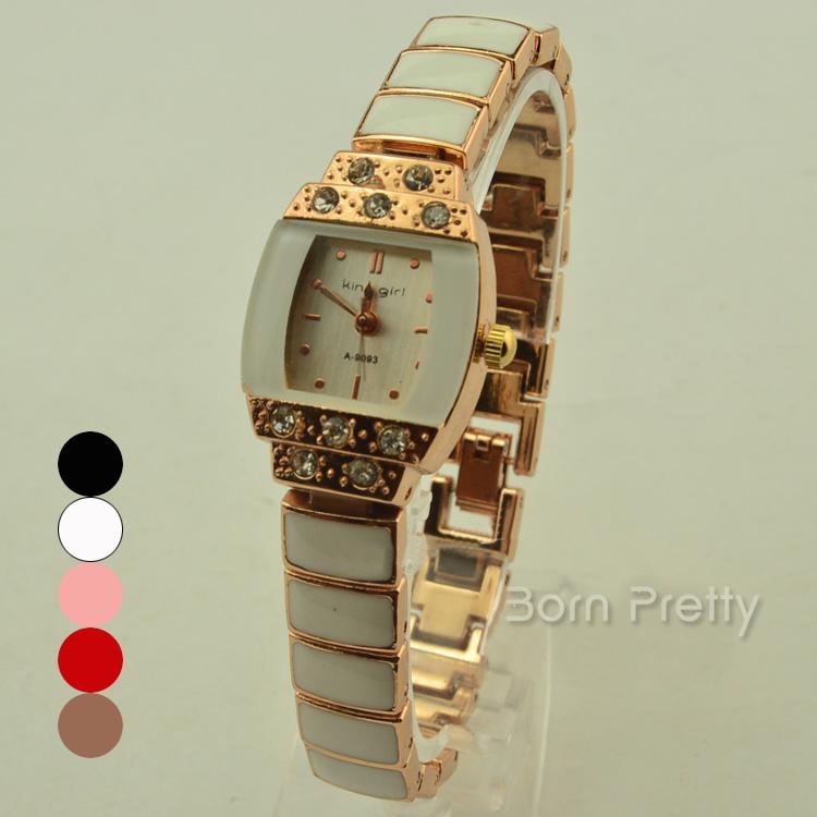 USD $6.99 Fashion Women's Watch Round Case Quartz Analog Wrist Watch - 4 colors - BornPrettyStore.com