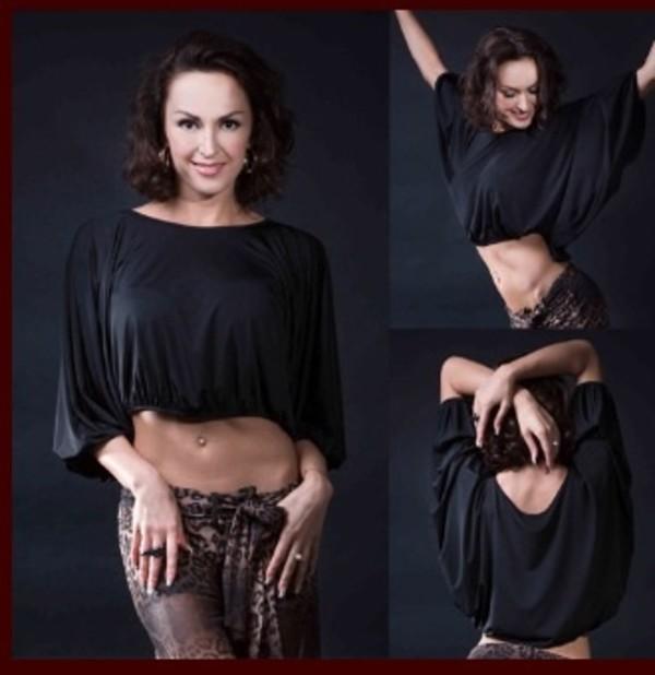 shirt black loose practice wear latin dance top latin dance dress