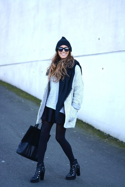stella wants to die blogger shoes t-shirt scarf hat sunglasses bag coat