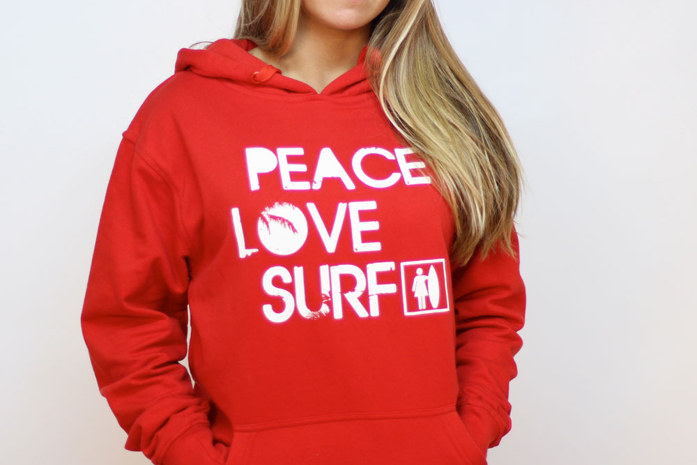 Sudadera roja chica Peace fit | Like To SURF