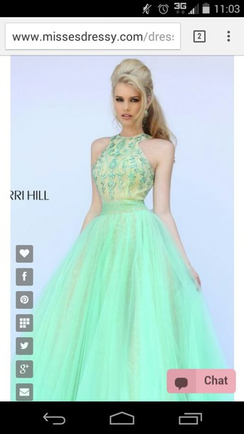 dress prom dress green dress yellow dress shiny shiny dress jewels