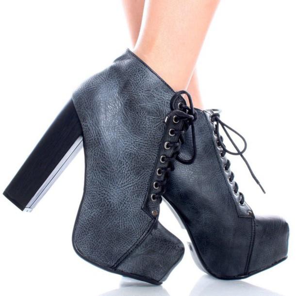 shoes black boots boots with laces platform lace up boots