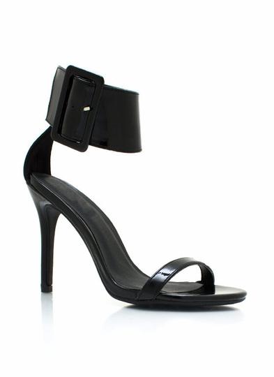 City-Slicker-Ankle-Cuff-Heels BLACK NUDE RED - GoJane.com