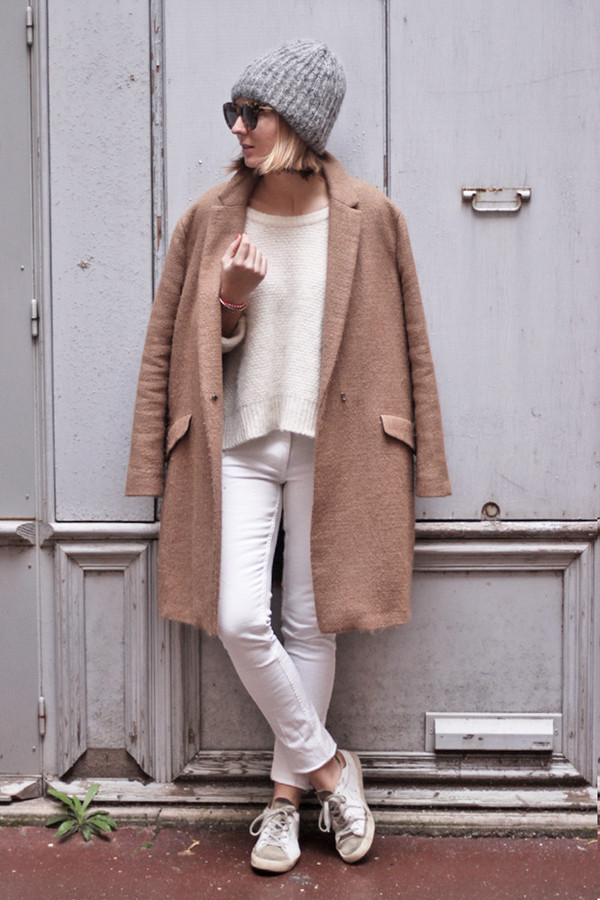 jane's sneak peak coat sweater jeans shoes sunglasses hat