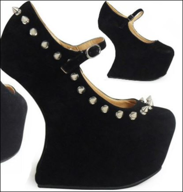 shoes black heels heels studs studded shoes studded heels spikes studded shoes jeffrey campbell jeffrey campbell jeffrey campbell