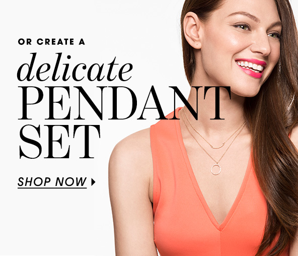 Iced Lariat Pendant Necklace | BaubleBar