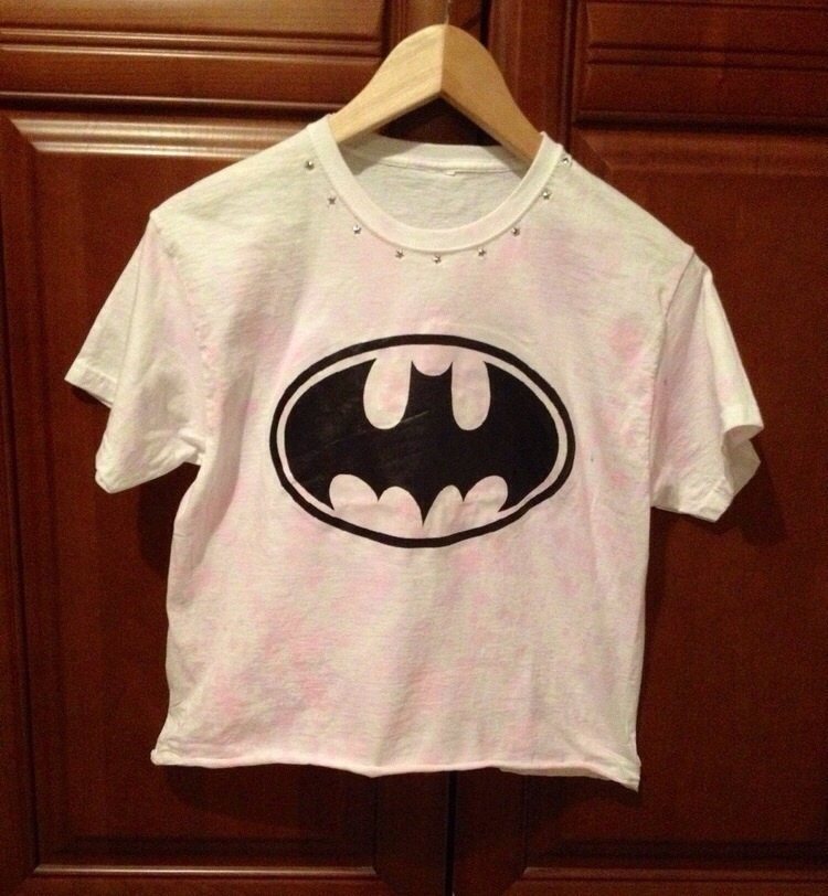 Batman Pastel Crop Top / Little Miss Charming