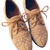 ROMWE   Hollow Carved Tied Apricot Flat Shoes, The Latest Street Fashion
