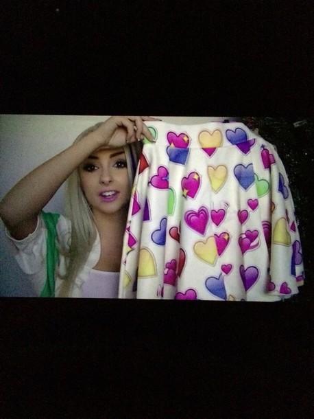 skirt heart emoji skirt