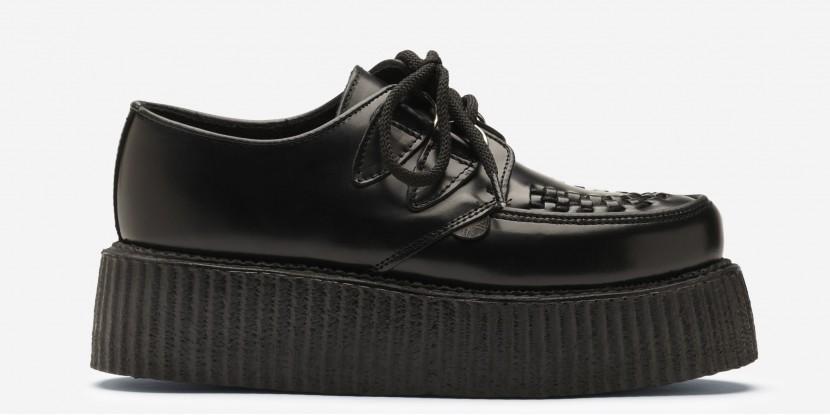 Underground Shop | Double Sole Wulfrun Creepers Black Leather | Shoes,Creepers,Underground,England