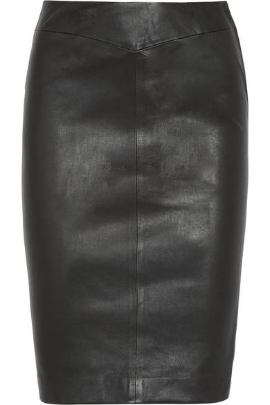 Joseph|Leather pencil skirt|NET-A-PORTER.COM